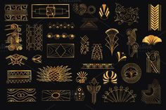33 Hand Drawn Art Deco Elements Vol5
