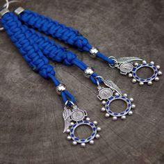 Blue Paracord Rosary Ring Lanyard | CordBands
