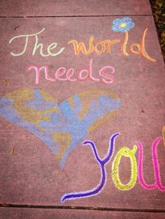 Back-to-School Sidewalk Chalk Quotes and Art