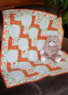 Baby Windows Quilt Pattern Baby Quilt Cut by GardenPathQuilts