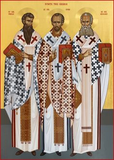 The Three Hierarchs: St. Basil, St. John Chrysostom & St. Gregory the Theologian by Ursutz Gabriel