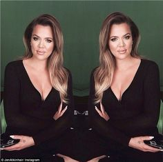 Done up: Khloe Kardashian, 29, looked stunning in an Instagram snap shared by her celebrit...