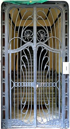 Barcelona - Marina 285 d Grill Door Design, Gate Design, Window Design, Art Nouveau, Art Deco, Metal Gates, Wrought Iron Doors, Window Bars, Stair Railing Design
