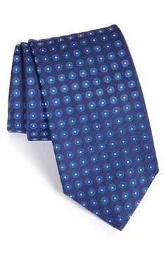 Men's Canali Dot Silk Tie