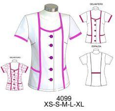 Delantales Scrubs Uniform, Maid Uniform, Corporate Uniforms, Nurse Costume, Cape Coat, Scrub Tops, Blouse Designs, Chef Jackets, Athletic Tank Tops