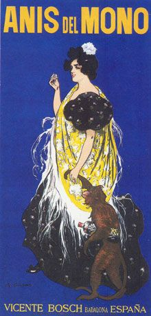 Poster Anís del Mono. Ramon Casas 1898  #design #graphic #spain