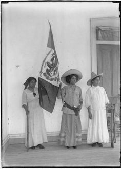 Maria Gonzalez and soldaderas, South Texas border 1900-1920. Soldaderas were female soldiers who fought alongside men during the Mexican Revolution (1910-1920).  The word is also used to refer to camp women who traveled with the troops but did not fight.
