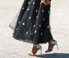 Beautiful maxi skirt #maxiskirt #black&white
