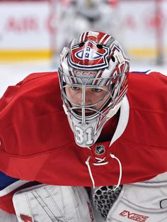MONTREAL, QC - MARCH Carey Price of the Montreal Canadiens warms up prior to the NHL game against the Ottawa Senators at the Bell Centre on March 2017 in Montreal, Quebec, Canada. (Photo by Francois Lacasse/NHLI via Getty Images) Goalie Pads, Hockey Goalie, Ice Hockey, Montreal Canadiens, Montreal Quebec, Frozen Pond, Nhl Games, Sports Pictures, Oeuvre D'art