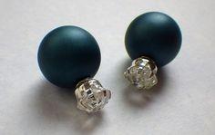 diamond earrings  double sided earrings  by DanishDutchSupply