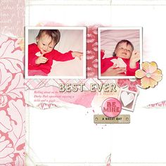 Giggle using Totally Trashed Love paper pack and Love Me Do kit by Lynn Grieveson.  Available at The Lily Pad.