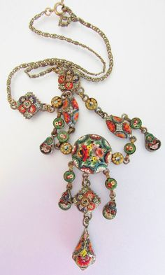 Antique Italian Micro Mosaic Jewelry  #mosaic jewelry #micromosaic #vintagemosaicjewelry