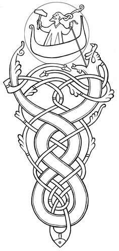 A tattoo design for the back of a viking.