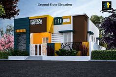 Beautiful Small House Front Elevation Design – Home decoration ideas and garde ideas House Front Wall Design, House Outer Design, Single Floor House Design, House Roof Design, House Outside Design, Village House Design, Bungalow House Design, Small House Design, Front Design