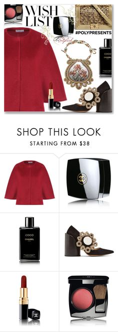 """""""#PolyPresents: Wish List (Formal)"""" by jecakns ❤ liked on Polyvore featuring RED Valentino, Chanel, Jacquemus and vintage"""