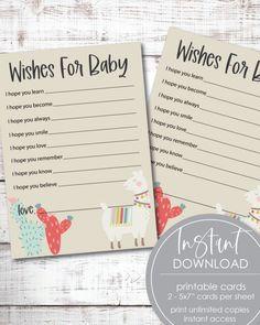 Printable Boho Llama Cactus, Baby Shower Wishes For Baby Cards Free Baby Shower Printables, Baby Shower Activities, Baby Shower Games, Baby Shower Checklist, Baby Shower Advice, Baby Shower Wishes, Boho Baby Shower, Shower Tips, Shower Ideas