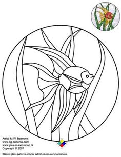 stained glass fish patterns free online | Free stained glass patterns/goldfish…
