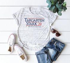 dcb20e23d Targaryen Stark '20 shirt inspired by Game of thrones   Etsy Travel Shirts,  White