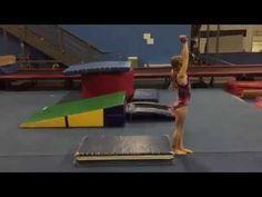 ▶ Beam Back Handspring Drills - YouTube