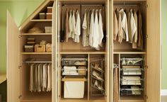 Loft conversion storage. Just beautiful. #thehappycloset