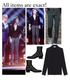 """Harry performing on the BBC music awards!"" by nikka-phillips ❤ liked on Polyvore featuring Lanvin and Yves Saint Laurent"