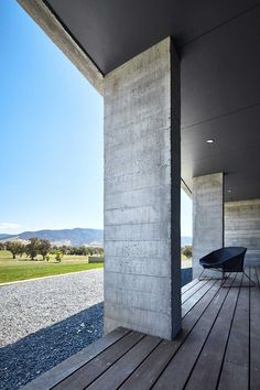 Gundowring House in Tangambalanga, Victoria by Bryant Alsop Architects Concrete Materials, Thermal Mass, Cattle Farming, Outdoor Tables, Architect House, Concrete Wall, Water Tank, Open Up, Homesteading