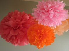10 Tissue Poms  Custom Pick Your Colors  Fast by prosttothehost, $35.00