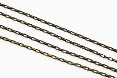 3 Feet - Antique Gold Drawn Box Chain 5x2.5mm - Chain By The Foot Gold Drawing, Box Chain, Sterling Silver Chains, Antique Gold, Bobby Pins, Hair Accessories, Detail, Antiques, How To Make