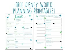 Disney World FREE Planning Printables: Disney World Planner - Disney Dream Co