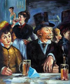 """""""Cafe Concert"""" by Edouard Manet placed 8th on overstockArt.com's 2014 Top 10 list. Hand painted reproductions are available in a variety of sizes at overstockArt.com. #art"""
