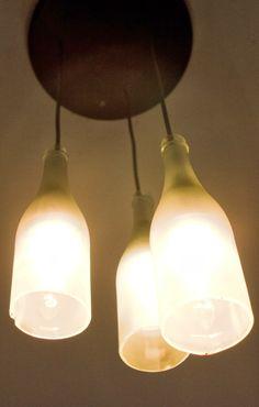 Fantastisch DIY Lampe Aus Weinflaschen Oder Sektflaschen