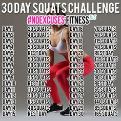 10 Best Squat Challenges on Pinterest - theFashionSpot