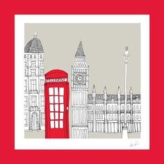 City Illustrations  London  Big Ben by BlueButtonStudio on Etsy, £15.00