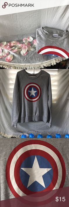 Marvel comics captain America Dress up in this simple but cute captain America shirt Marvel Tops Tees - Long Sleeve