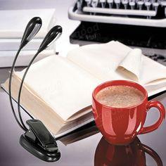 Flexible Dual Arm 8 LED Clip Desk Light Book-reading Laptop Stand Lamp - US$4.79