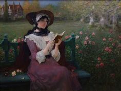 George Henry BOUGHTON Woman Reading c.1900