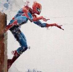 Spider-Man - I love the watercolor affect :D