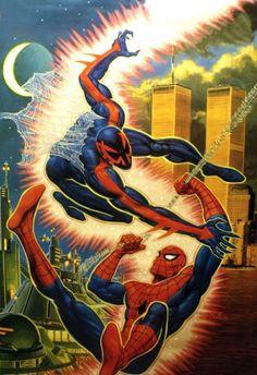 Spider-man 2099 vs Spider-man by Bob Larkin