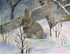 Winter Rabbit by Esther Marie Versch