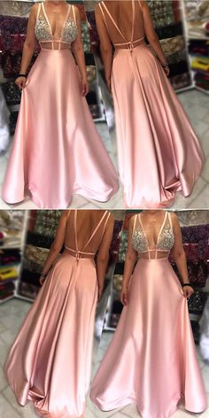 long prom dresses, deep v neck prom dresses, womens prom dresses, backless prom gowns