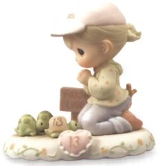 Precious Moments Age 13 - Blonde is from the popular Precious Moments Growing in Grace Series. $40.00