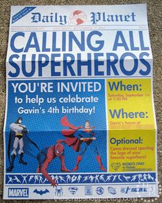 free+superheroes+birthday+printable | All in all, I am super pleased with how it turned out!
