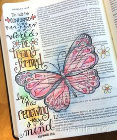 Be Transformed Bible Journaling Traceable, 6X8 Perfect for Bible Journaling, this traceable depicts Romans 12:2. Simply trim to size, and slip behind your Bible page for easy tracing. See example of my original Bible page for inspiration. (Color image not included in this download.) The watermark on the listing will not appear on your downloaded files. **Please note--This is a digital item for instant download. You will not receive a physical item. Once the pdf is downloaded, you may print…