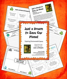 Free Earth Day literacy and science integrated lesson. Just a Dream to Save Our Planet is a collection of activities to explore environmental issues based on the book by Chris Van Allsburg. The book was written in 1990, but its message of the importance of taking care of our Earth still holds true today. You can use all of the activities in the packet or just a few of them. Many of the activities work well in cooperative learning groups.