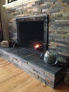 slate tile fireplace surround. Slate Fireplace  diy ryobination 27 Stunning Tile Ideas for your Home fireplace
