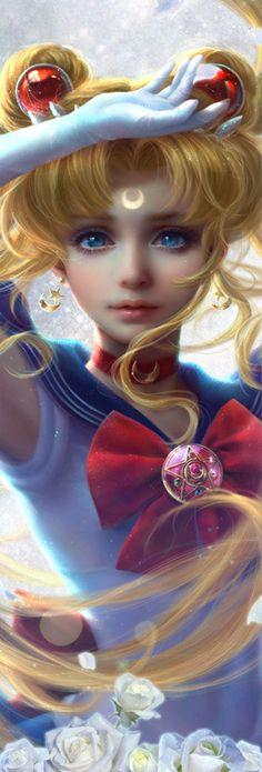 snorkkmaiden:  Sailor Senshi and Luna, by sunmomo