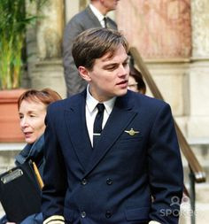 """Photo by: Henry Lamb/Photo Wire STAR MAX, Inc. 2002. 4/27/02 Leonardo DiCaprio on the set of """"Catch Me If You Can"""". (NYC)"""