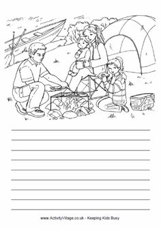 free kids printable activities easy camping word search coloring pages word puzzles. Black Bedroom Furniture Sets. Home Design Ideas