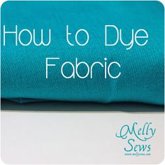 How to dye fabric using procion fiber reactive dyes, not RIT dyes. It isn't as scary as you might think.