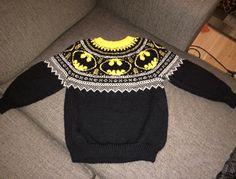 We Like Knitting: Mini Batman Logo Chart - Free Pattern